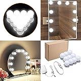 Surenhap Hollywood Style Kit De Luces Con Espejo de cortesía LED con 10 bombillas regulables y...