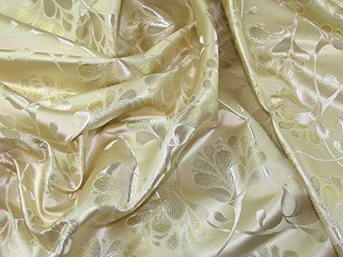 Minerva Crafts Floral Gewebe der Metallic Brokat Kleid Gold–Meterware
