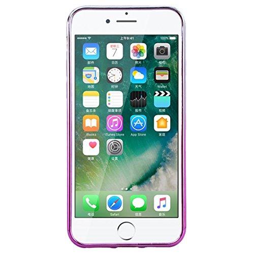 """GrandEver Coque iPhone 7 4.7"""" 3D Liquide Silicone Transparente { Or } Paillettes Souple Flexible Etui Glitter Sable Étoiles Rigide Back Cover Case Anti-Choc Anti Rayures Housse pour iPhone 7 --- Tour Hibou"""