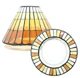 Offizielles Yankee Candle warmen Sommer Glas Mosaik groß Lampenschirm Dekoration Set–Kerze Nicht im Lieferumfang enthalten