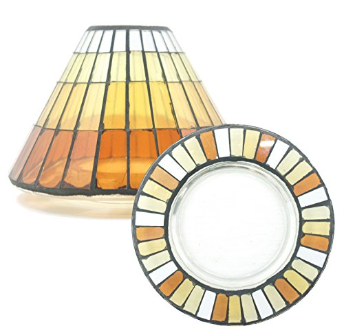 Official Yankee Candle Warm Summer Night Glass Mosaic Large Lamp Shade Decoration Set - Candle NOT Included