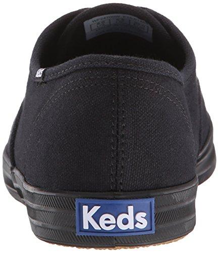 Keds Women's Champion Original Canvas Sneaker, Black/Black,12 N US Black/black