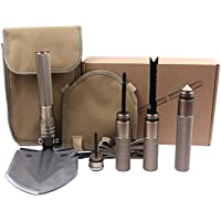 Berufsmilitärisches taktisches Multifunktionsschaufel-Werkzeug-zusammenklappbares abnehmbares Graben-Werkzeug mit tragbarem tragendem Beutel für Überlebens-Camping-Wandern im Freien
