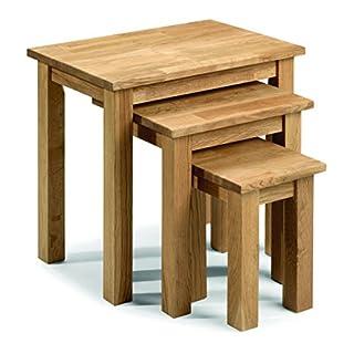 Julian Bowen Coxmoor Solid Oak Nest of Tables, Oak