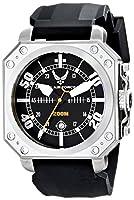 U.S. Air Force 37WA035501A - Reloj para hombres, correa de silicona color negro de U.S. Air Force