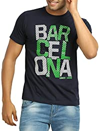 642 Stitches Men's Round Neck Cotton Barcelona Basic T-Shirt
