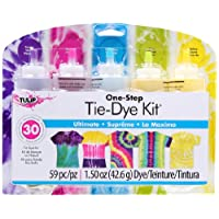 I Love To Create Tulip One Step Tie Dye Ultimate 5 Color Kit, 59 Pieces