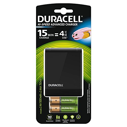 Duracell Chargeur Piles Rechargeables Rapide 15 minutes