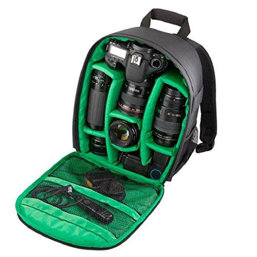 Heekpek® Zaino Macchina Fotografica Zaino Borsa Impermeabile Per Fotocamera Custodia Per Fotocamera Zaino Borsa Impermeabile DSLR Per Canon Nikon Sony Verde