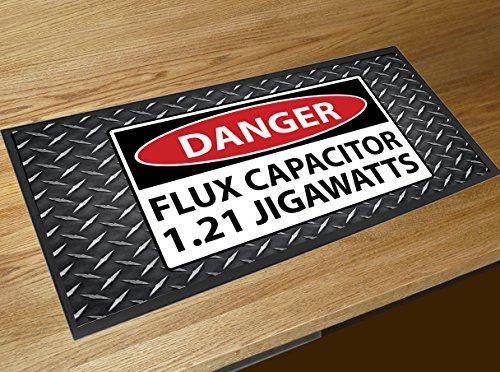 Flux Capacitor Back die die Zukunft Film Pub Bar Runner Fußmatte Zähler