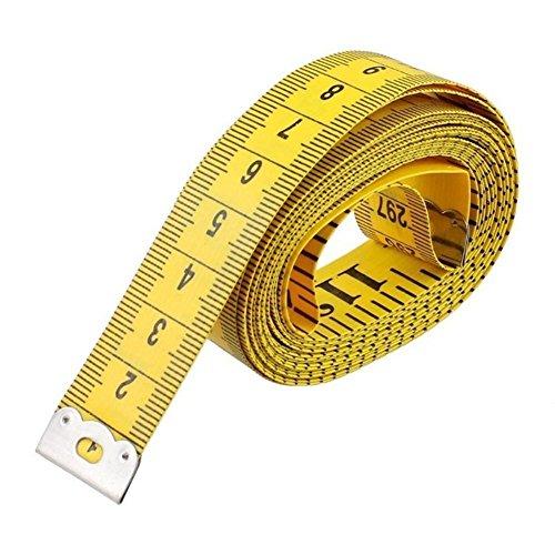 Waroomss 1 STÜCK 150 cm Tape Maßnahmen Tuch Maßband Weiche Flexible Herrscher für Körper Nähen Schneider Zufällige Farbe Wählen -