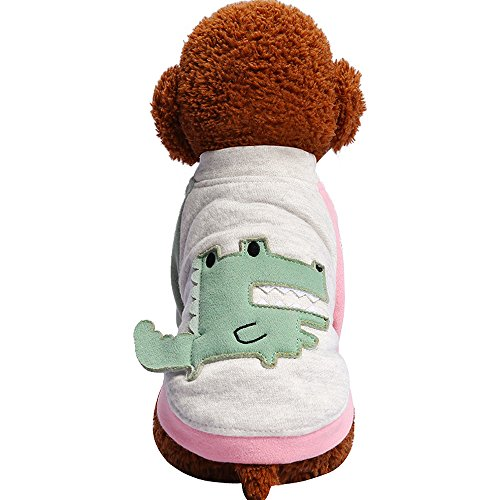 EUZeo Niedliche Hundekleidung Rot Spielt Pailletten Haustier T-Shirt Kostüme Minimalist Stil Hündchen Pullover Hundeshitrs Hundepullover Kleiner Lovely Hund Hündchen