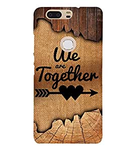 We Are Together Quote 3D Hard Polycarbonate Designer Back Case Cover for Huawei P8
