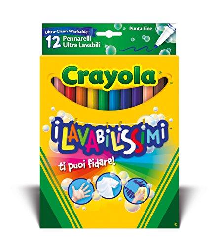 Crayola-58-8331-Les lavabilissimi 12marqueurs, Pointe Fine