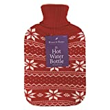 Festive Hot Water Bottle With Knitted Cover 2L (Pat for sale  Delivered anywhere in UK