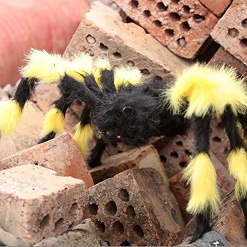 (Cloverclover Halloween Props Gefälschte Spinne für Haunted House Bars Dekorative Versorgung Simulation Scary Plüsch Spiders Tricky Toys)