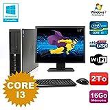 Pack PC HP Compaq 6200 Pro SFF Core i3 3.1GHz 16 GB 2To DVD WIFI W7 + Bildschirm 17