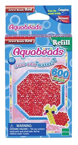 Aquabeads 32668 Glitzerperlen Bastelperlen nachfüllen rot