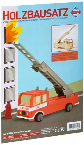 Pebaro 851/2 Holzbausatz 3D Puzzle Feuerwehrauto