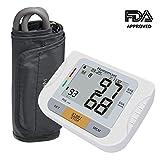 Homemaxs Blutdruckmessgerät mit verstellbarem Ärmelaufschlag, Oberarm-Design mit digitalem Großbildschirmdisplay, präzise, tragbares Gehäuse, FDA anerkannt