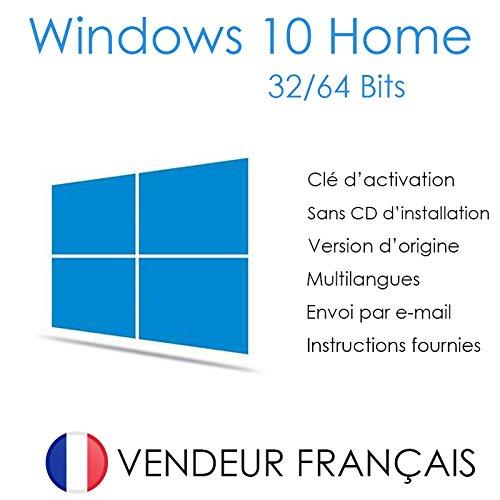 Licence Windows 10 Home (Famille) 32 et 64 Bits 5 utilisateurs (PC) | Livraison gratuite par e-mail | Assistance et instructions (Satisfait ou remboursé)