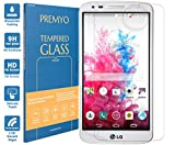 PREMYO Panzerglas für LG G3 Schutzglas Display-Schutzfolie für LG G3 Blasenfrei HD-Klar 9H 2,5D Echt-Glas Folie kompatibel für LG G3 Gegen Kratzer Fingerabdrücke