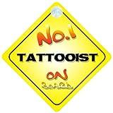 Quality Goods Ltd Panneau à suspendre pour voiture avec inscription «Tattoist on Board»