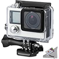 Deyard Waterproof Housing Case with Quick Release Mount and Thumbscrew for GoPro Hero 4 and Hero 3+ Action Camcorder - 45 Meters Underwater Photography