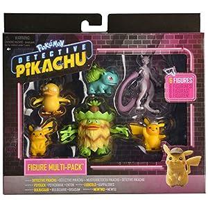 Pokemon Pack de 6 Figuras Detective Pikachu (BIZAK 63227602)