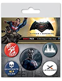 "Set de 5 botones decorativos Batman vs Superman ""Superman"""