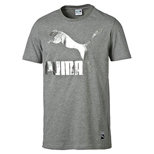 Puma Archive Logo Maglietta - Grigio (Medium Gray Heather) - L