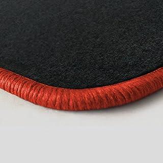 Autoteppich Stylers (Randfarbe nach Wahl) Passgenaue Fußmatten aus Nadelfilz Graphit mit orangenem Rand (347)