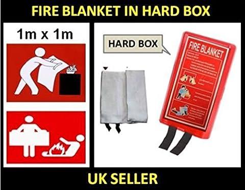 Fire Decke Große Sicherheit Schnellentriegelung Fighting Taben Case oder harte Box 1m x 1m Type Blanket In Hard