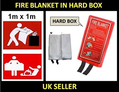 Uwant Fashion Household Fire Decke Große Sicherheit Schnellentriegelung Fighting Taben Case oder Harte Box 1m x 1m Type Blanket In Hard Box - Double Ended Duo
