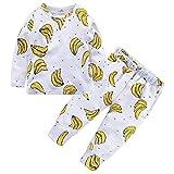 BHYDRY NiñIto Bebé Chico Chica Niños Tops Florales Camiseta Pantalones Pijama Ropa De Dormir 2 Piezas Trajes(Amarillo,110)