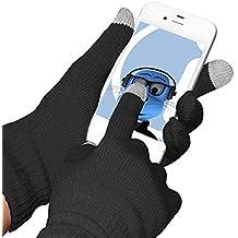 Schwarz Unisex Full Finger One Size TouchTip TouchScreen Winterhandschuhe für Alcatel One Touch 918D