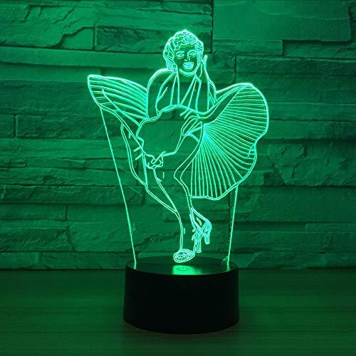 Gwgdjk 3D Led Licht Schreibtisch Tisch Halloween Dekoration Geschenk Urlaub Usb 7 Farben Ändern Lava Lampe Kinder Für Dame Geschenk