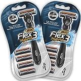 BIC RAZORS Flex3 Hybrid Kit Rasoi Usa e Getta da Uomo, Confezione da 2 Pacchi a 8 Pezzi