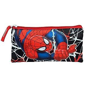 Estuche portatodo plano doble de Spiderman