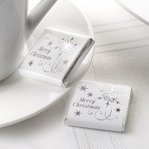 Forme de flocon avec Chocolat Carré-Merry Christmas-X594450-Pack de 20
