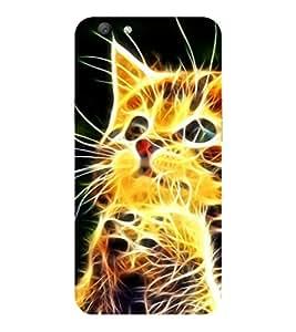 VIVO V5 CAT ALONE PRINTED BACK CASE COVER by SHAIVYA