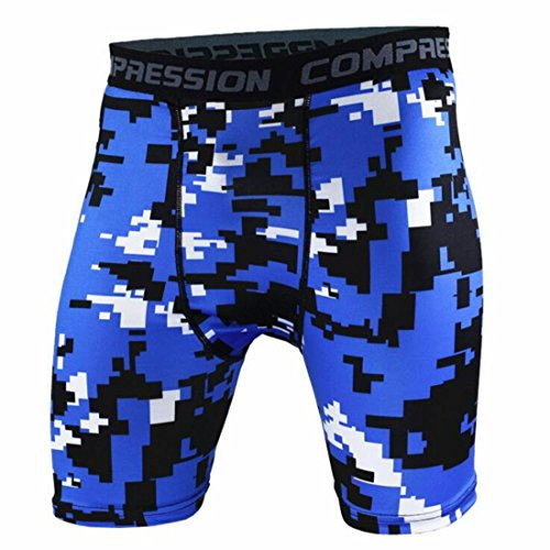 Men's Army Military Fitness Gym Running Compression Shorts . as pic 14