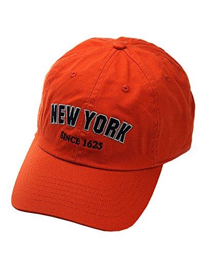 NYfashion101 Casquette Unisexe brodée New York à l'avant et à l'arrière, visière Basse.