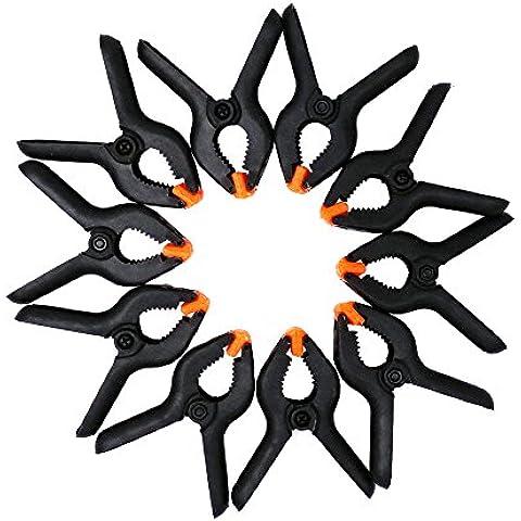 suyizn 10pcs plástico primavera abrazaderas Extra Fuerza de agarre y clips con asas para facilitar el uso abrazadera 2Inch DIY herramientas