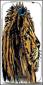 Snoogg Sketch Of A Big Male African Lion Vector Illustration Designer Protective Back Case Cover For HTC One S