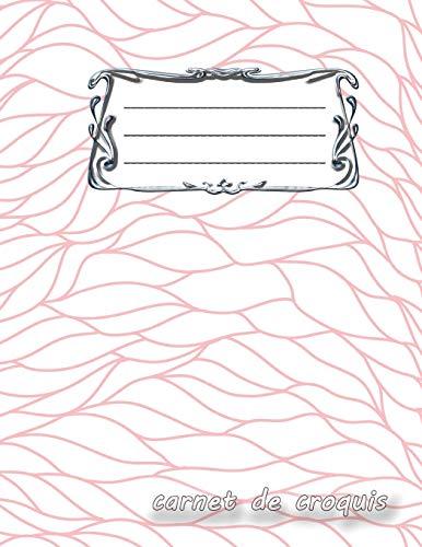 carnet de croquis: Bloc-notes vierge | Format A4 | 112 pages | Bloc-notes avec registre | Idéal comme agenda, carnet de croquis, carnet de croquis, ... ou cahier à colorier vide | Wave design 5 par avec verve Dessiner