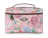 Beauty Case Square Medium Floral Pink 23 x 16 x 16 cm