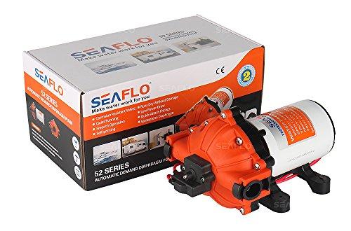 Seaflo 12Volt HIGH Druck Wasser Pumpe 15L/MIN 4.0GPM 60PSI mit automatischer Schalter für Marine RV Boot Automotive