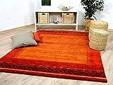 Natur Teppich Indo Gabbeh Esta Rot Classic in 6 Größen