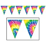 Tie Dyed Pennant Banner - 60's Party Decoration